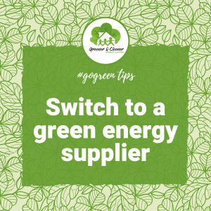 Switch to a green energy supplier banner