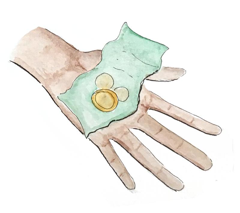 open hand with money